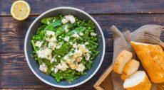 Салат из зеленого горошка, фасоли и феты