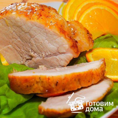 Свинина в апельсиново-имбирной глазури