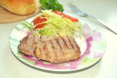 Свиная корейка на сковороде гриль