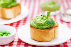 Паста из зеленого горошка с мятой