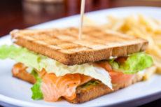 Сэндвичи со слабосоленым лососем