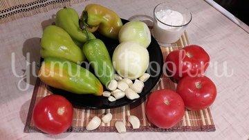 Густая сметанно-овощная подлива