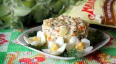 Зимний салат с говядиной и каперсами