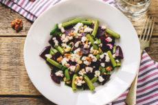 Салат из свеклы со спаржевой фасолью