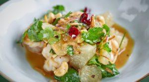 Помело салат с орехами кешью и креветками