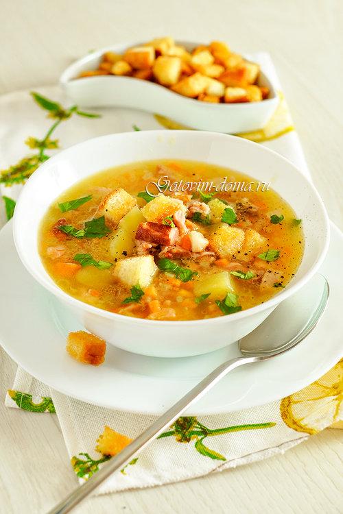 Гороховый суп с копчеными ребрышками рецепт в мультиварке пошагово 180