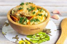 Курица с овощами «Рецепт ленивой хозяйки»