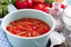 Лечо с томатным соком: простой рецепт