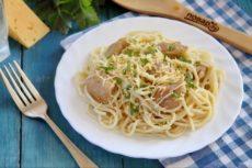 Спагетти с индейкой