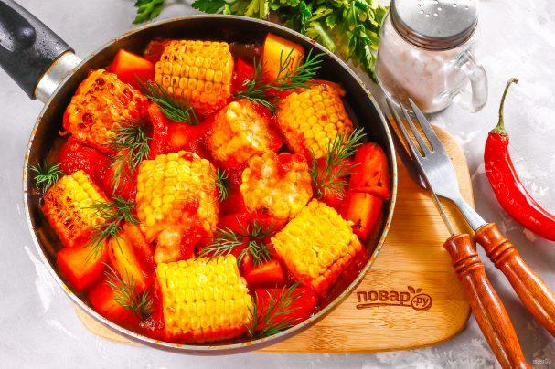 Овощи с томатным соусом