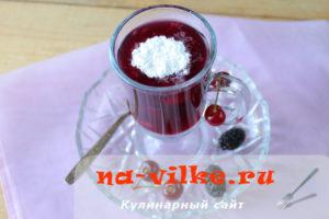 Кисель в мультиварке из ягод вишни и шелковицы