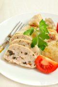 Куриные окорочка, фаршированные шампиньонами и сыром