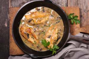 Куриное филе в грибном соусе: для вкусного ужина
