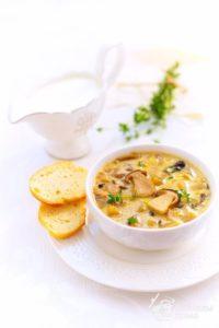 Суп с белыми грибами и сливками