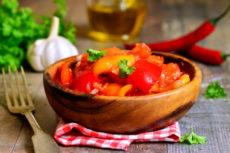 Лечо из болгарского перца и томатного сока: быстрый рецепт