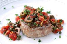 Стейк тунца по-сицилийски