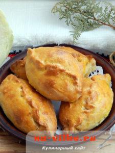 Пирожки с капустой на заварном тесте