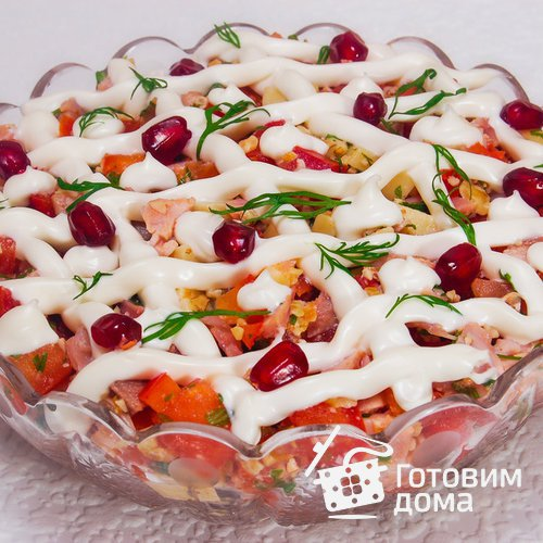 Салат с копченой курицей «Зимний вечер»