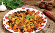 Рецепт овощного рагу с баклажанами и кабачками