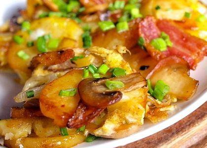 как пожарить мороженные грибы с картошкой